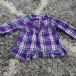 *BOGO* Carters girls purple plaid long sleeve